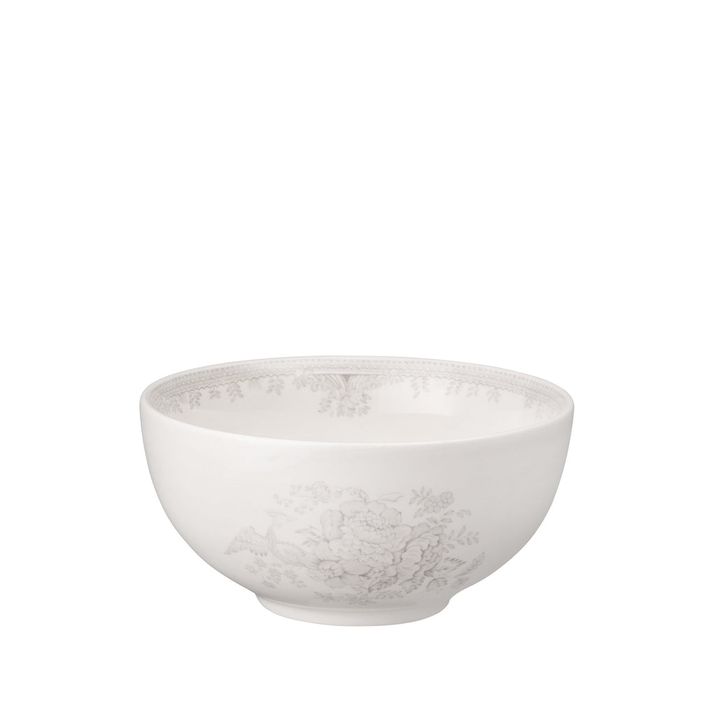 Dove Grey Asiatic Pheasants Small Footed Bowl
