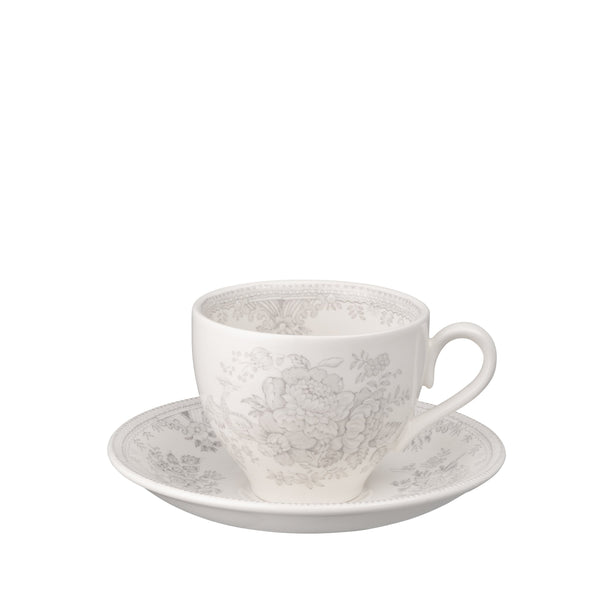 Dove Grey Asiatic Pheasants Teacup And Saucer