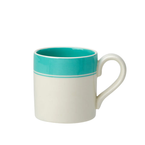 Fortnum and Mason Stripe Eau De Nil Mug 284ml Seconds