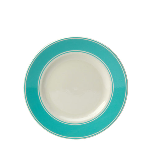 Fortnum and Mason Stripe 20cm Plate Eau De Nil Seconds