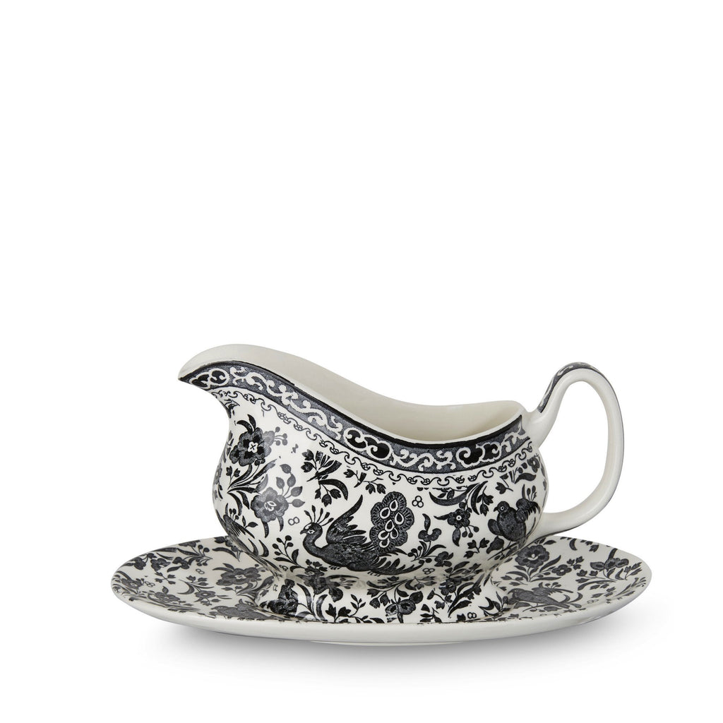 Gravy Boat & Stand - Black Regal Peacock Gravy Boat & Stand