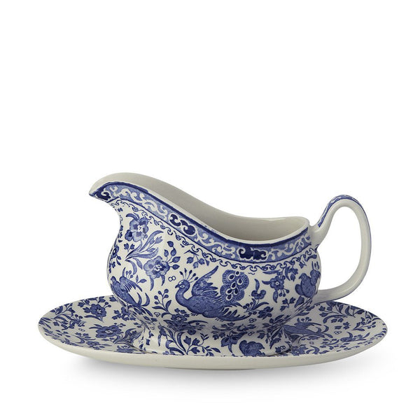 Gravy Boat & Stand - Blue Regal Peacock Gravy Boat & Stand