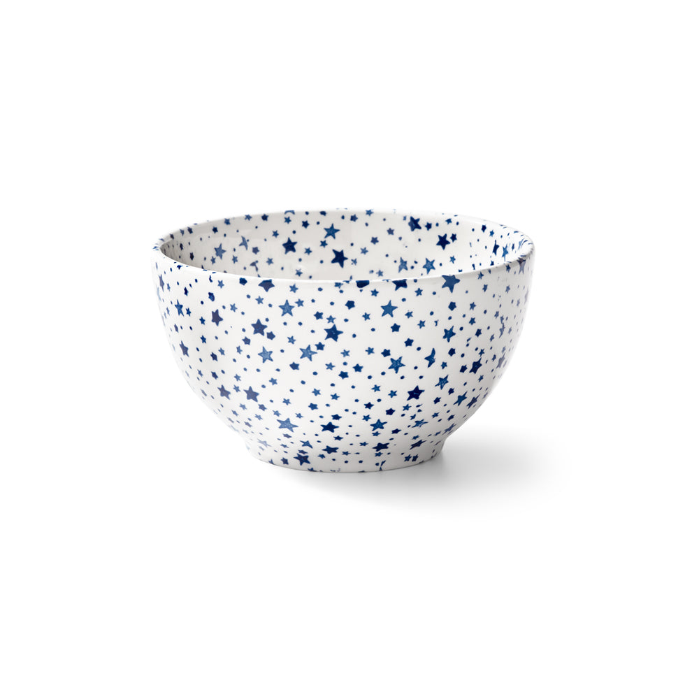 Midnight Sky Light Indigo Footed Bowl