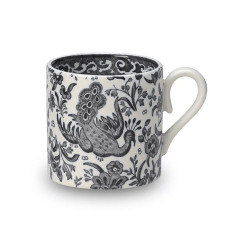 Black Regal Peacock Mini Mug
