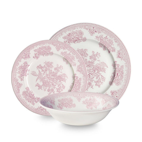 Pink Asiatic Pheasants 12 Piece Place Setting