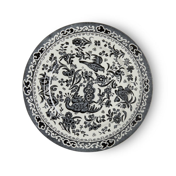 "Plate - Black Regal Peacock Plate 17.5cm/7"" Seconds"
