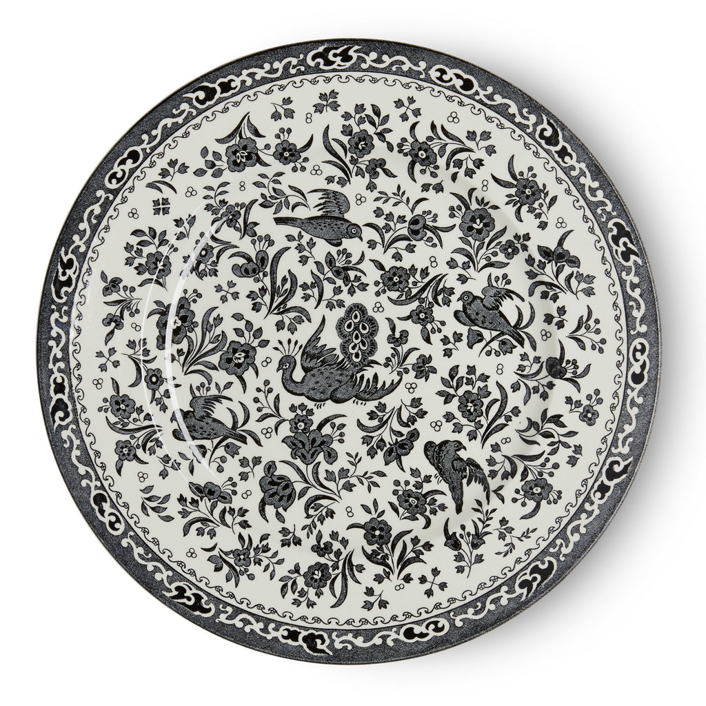 Plate - Black Regal Peacock Plate 25cm/10""