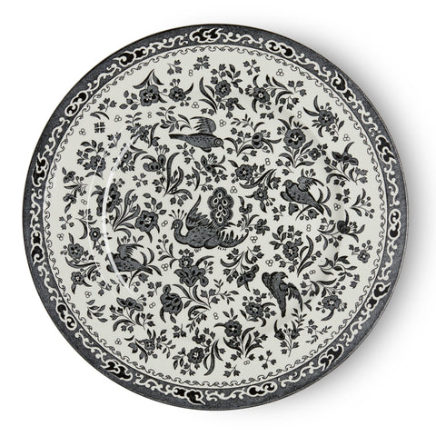 Black Regal Peacock Plate 25cm/10""