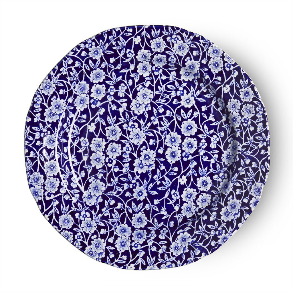 Plate - Blue Calico Plate 21.5cm/8.5""