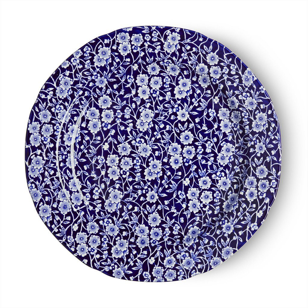 Plate - Blue Calico Plate 26.5cm/10.5""