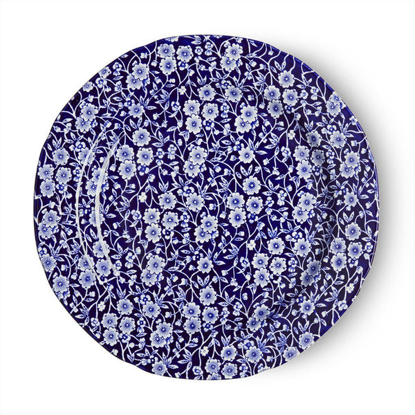 "Plate - Blue Calico Plate 26.5cm/10.5"" Seconds"