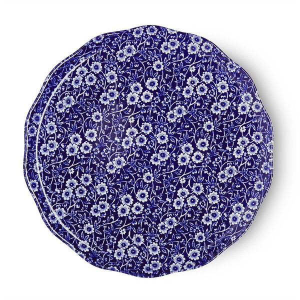 Plate - Blue Calico Plate 28cm/11""