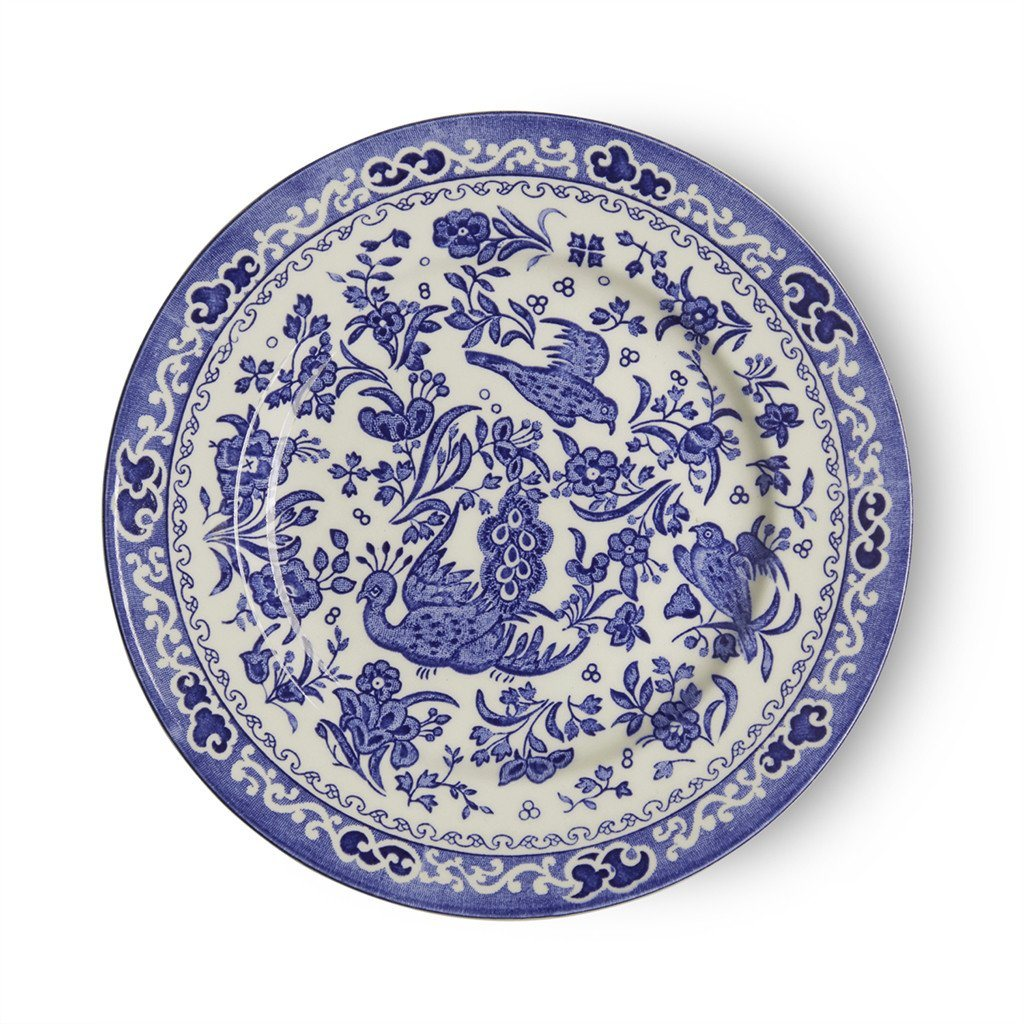 Plate - Blue Regal Peacock Plate 17.5cm/7""