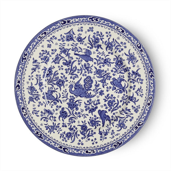 "Plate - Blue Regal Peacock Plate 25cm/10"" Seconds"