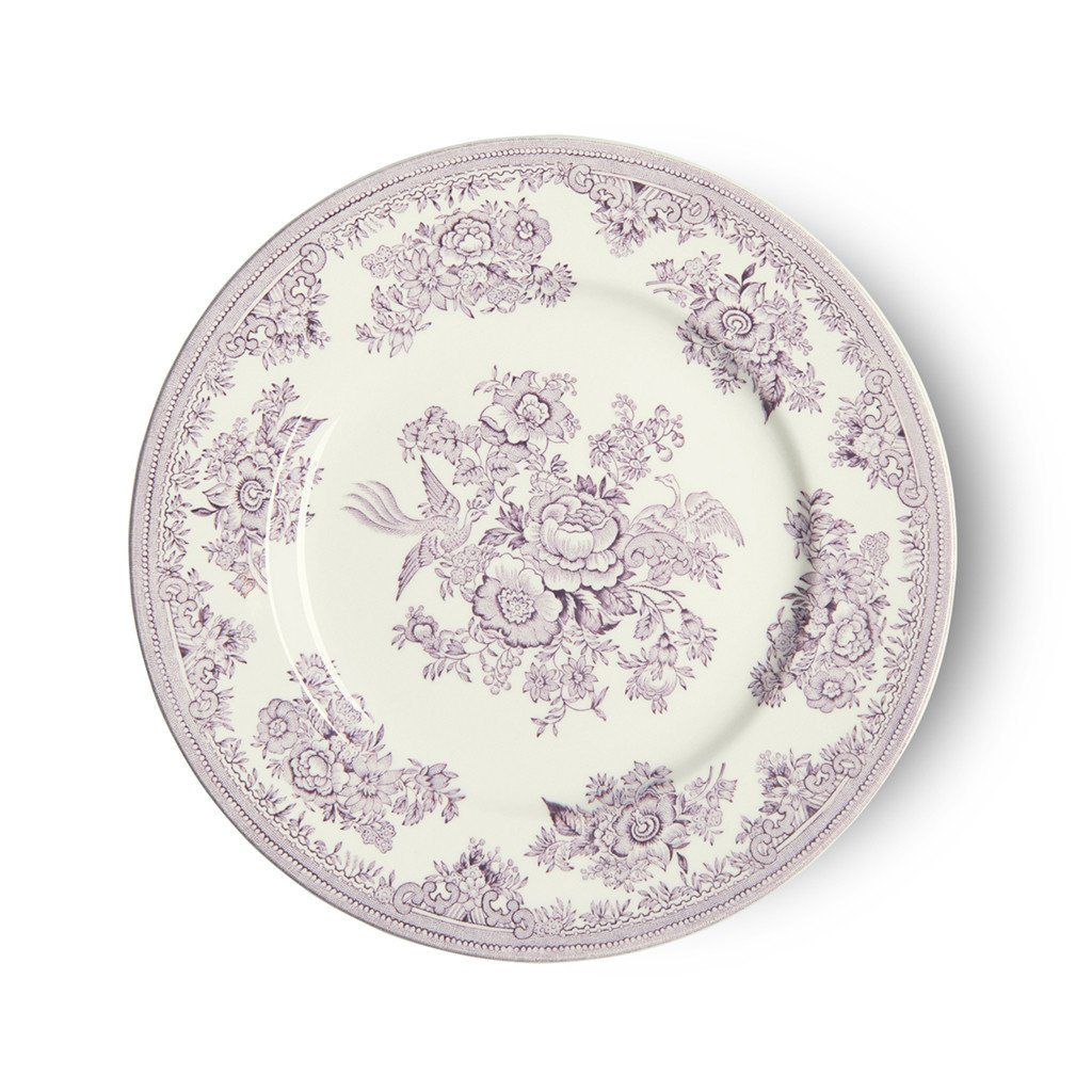 "Plate - Plum Asiatic Pheasants Plate 17.5cm/7"" Seconds"