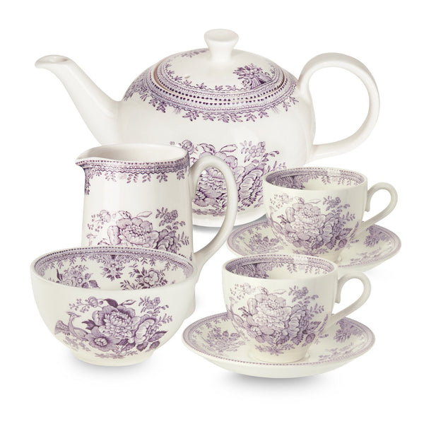 Plum Asiatic Pheasant Tea Set