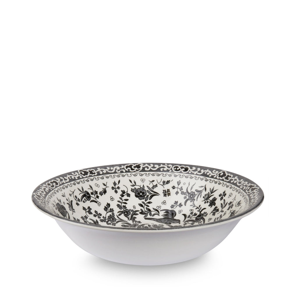 Pudding/Soup Bowl - Black Regal Peacock Pudding / Soup Bowl 20.5cm/8""