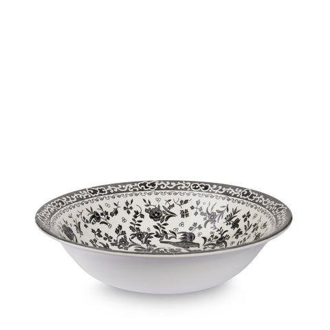 Black Regal Peacock Pudding / Soup Bowl 20.5cm/8""
