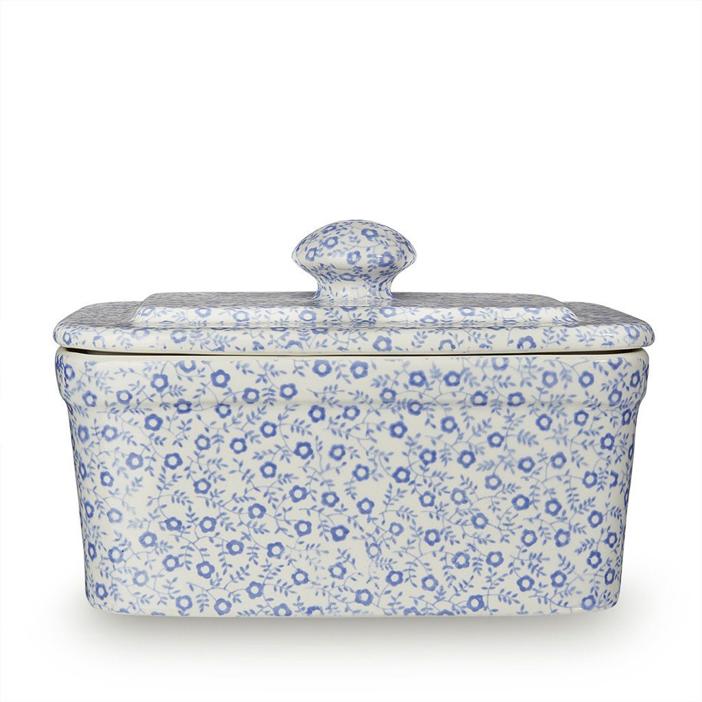 Rectangular Butter Dish - Blue Felicity Rectangular Butter Dish 400g/1lb