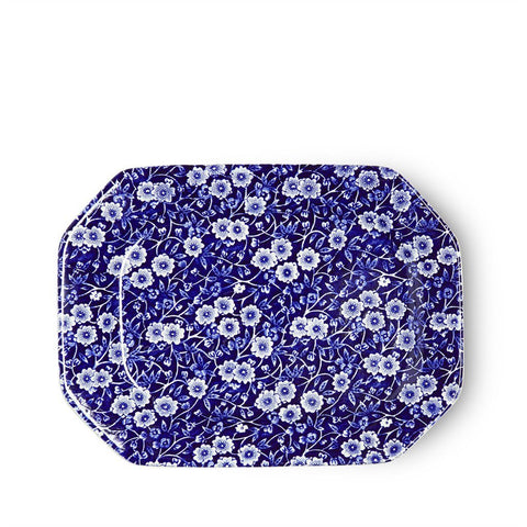 Blue Calico Rectangular Platter 25cm/10""