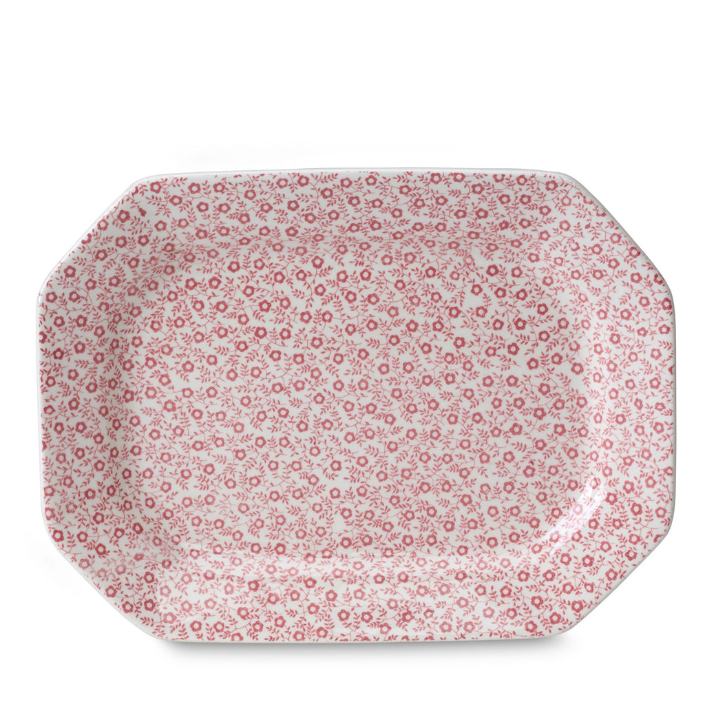 "Rose Pink Felicity Rectangular Platter 25cm/10"" Seconds"