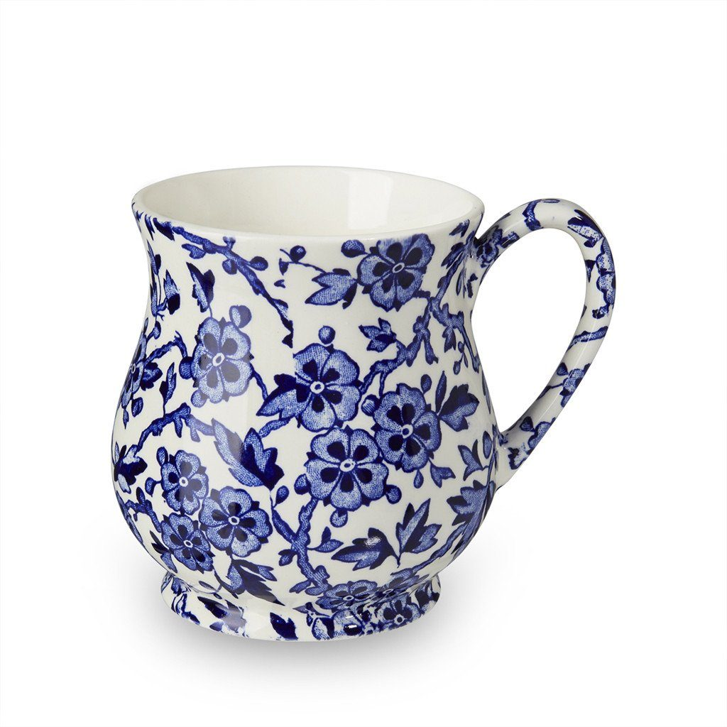 Handmade Mugs Beautiful Floral Patterns Burleigh Pottery