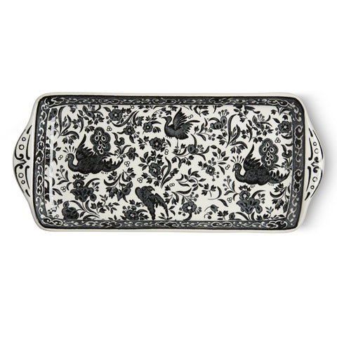 Black Regal Peacock Rectangular Tray 28cm/11""