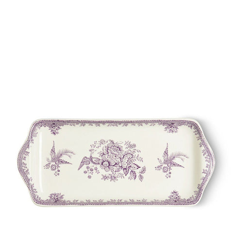 "Plum Asiatic Pheasants Rectangular Tray 11"" / 28cm"