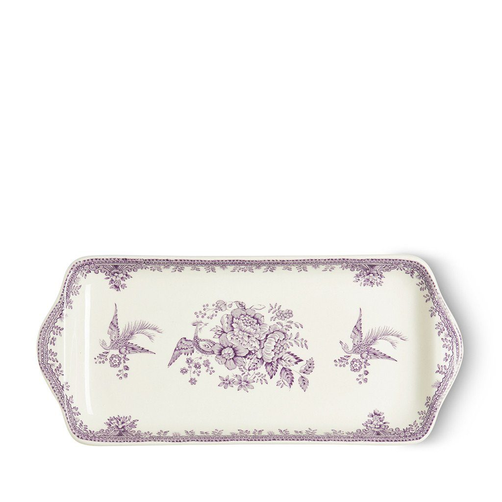 "Sandwich Tray - Plum Asiatic Pheasants Rectangular Tray 11"" / 28cm Seconds"