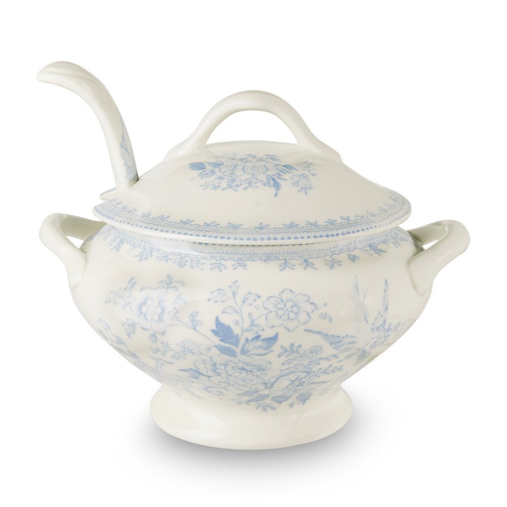 China & Dinnerware Burleigh Blue Calico Tureen