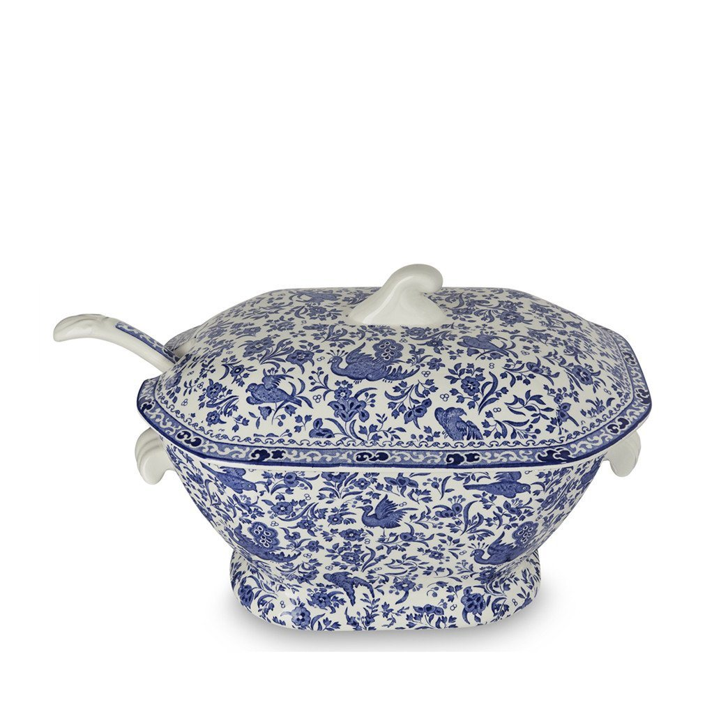 Burleigh/burgess & Leigh Pottery & China Burleigh Blue Calico Tureen