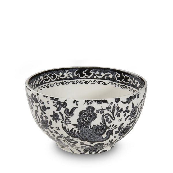 "Sugar Bowl - Black Regal Peacock Sugar Bowl 12cm/4.75"" Seconds"