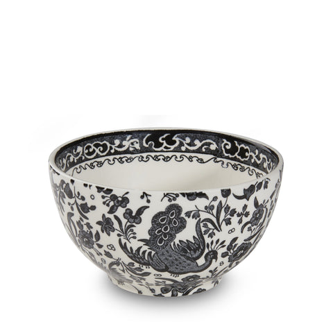 "Black Regal Peacock Sugar Bowl 12cm/4.75"" Seconds"