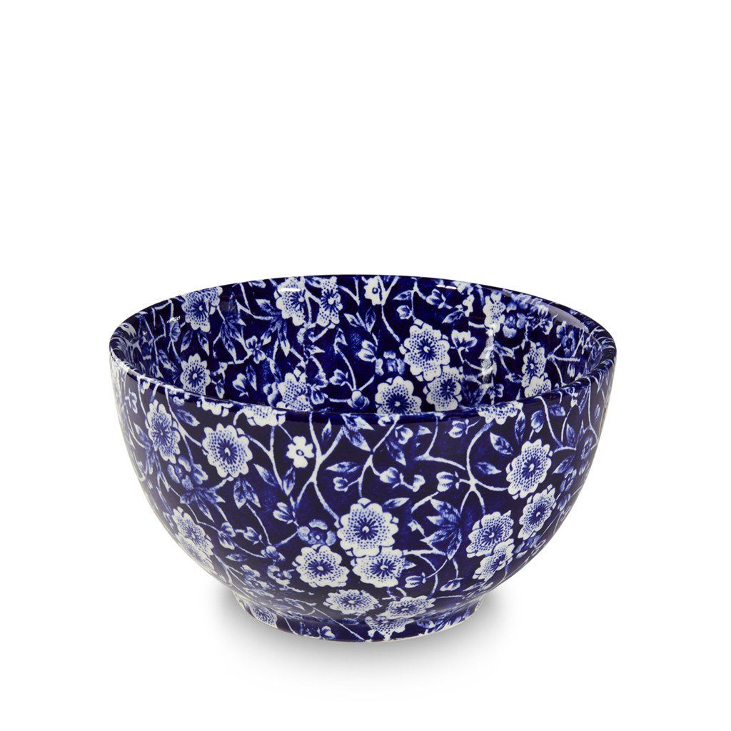 "Sugar Bowl - Blue Calico Mini Footed Bowl 12cm/5"" Seconds"