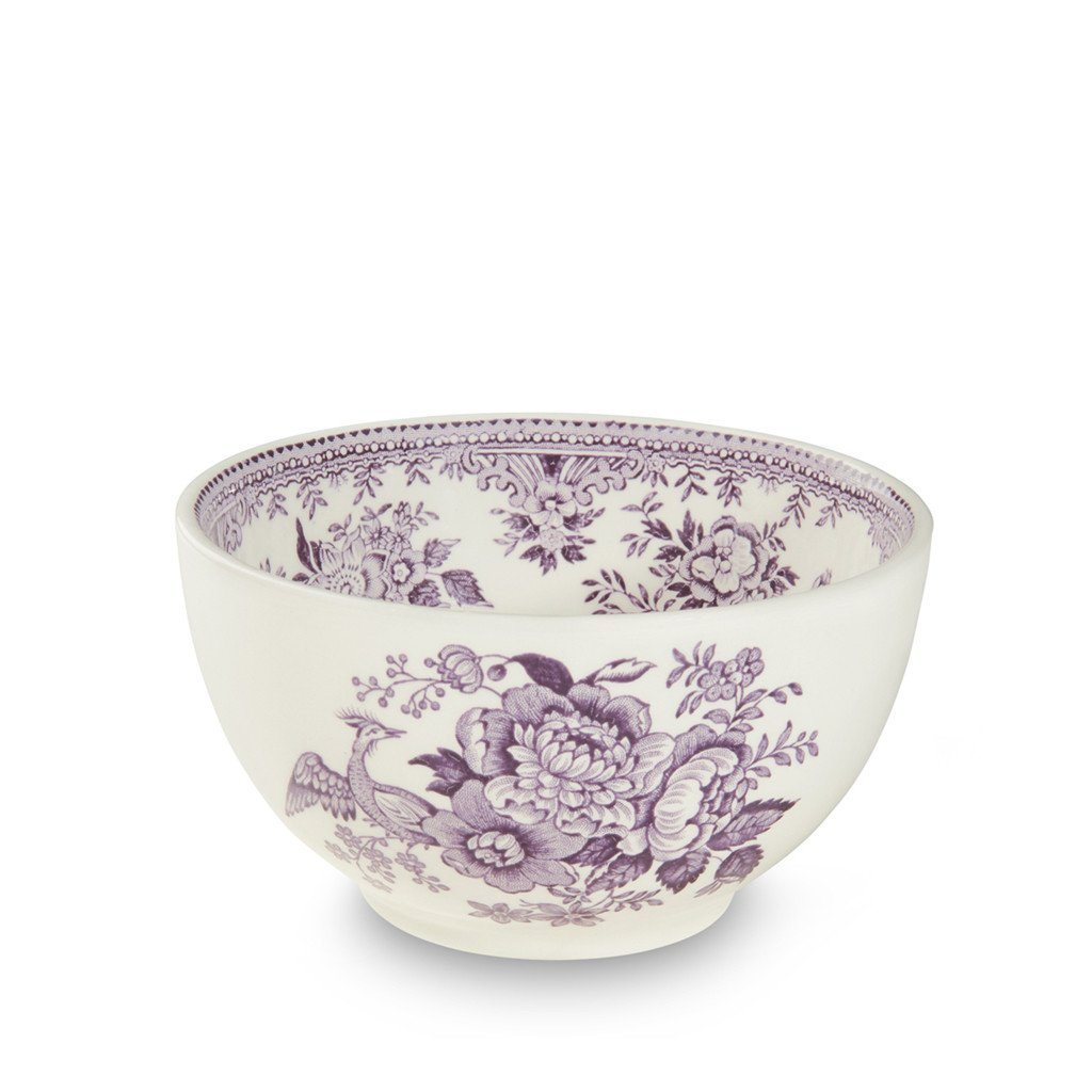 "Sugar Bowl - Plum Asiatic Pheasants Mini Footed Bowl 12cm/5"" Seconds"