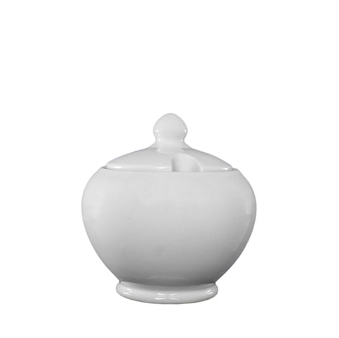 White Ware Covered Sugar Bowl
