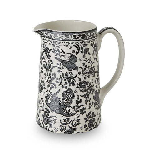 Black Regal Peacock Tankard Medium Jug 568ml/1pt