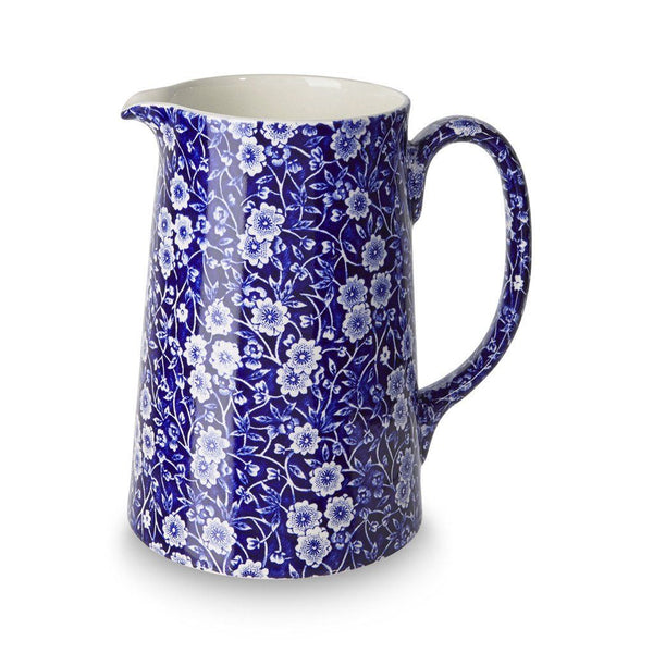 Tankard Jug - Blue Calico Large Tankard Jug 1.1L/2pt Seconds