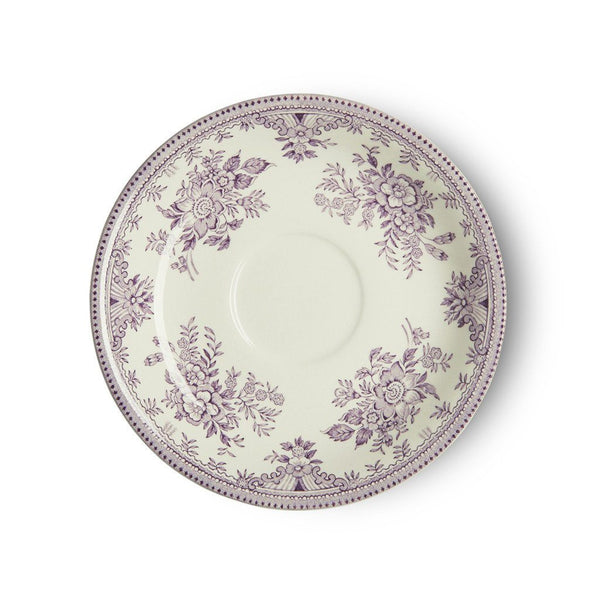 Tea Saucer - Plum Asiatic Pheasants Tea Saucer Seconds