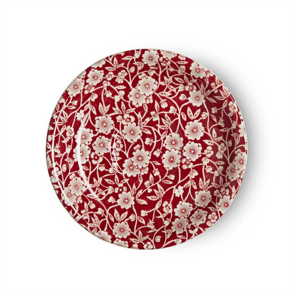 Tea Saucer - Red Calico Tea Saucer Seconds