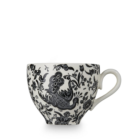 Black Regal Peacock Teacup 187ml/0.33pt
