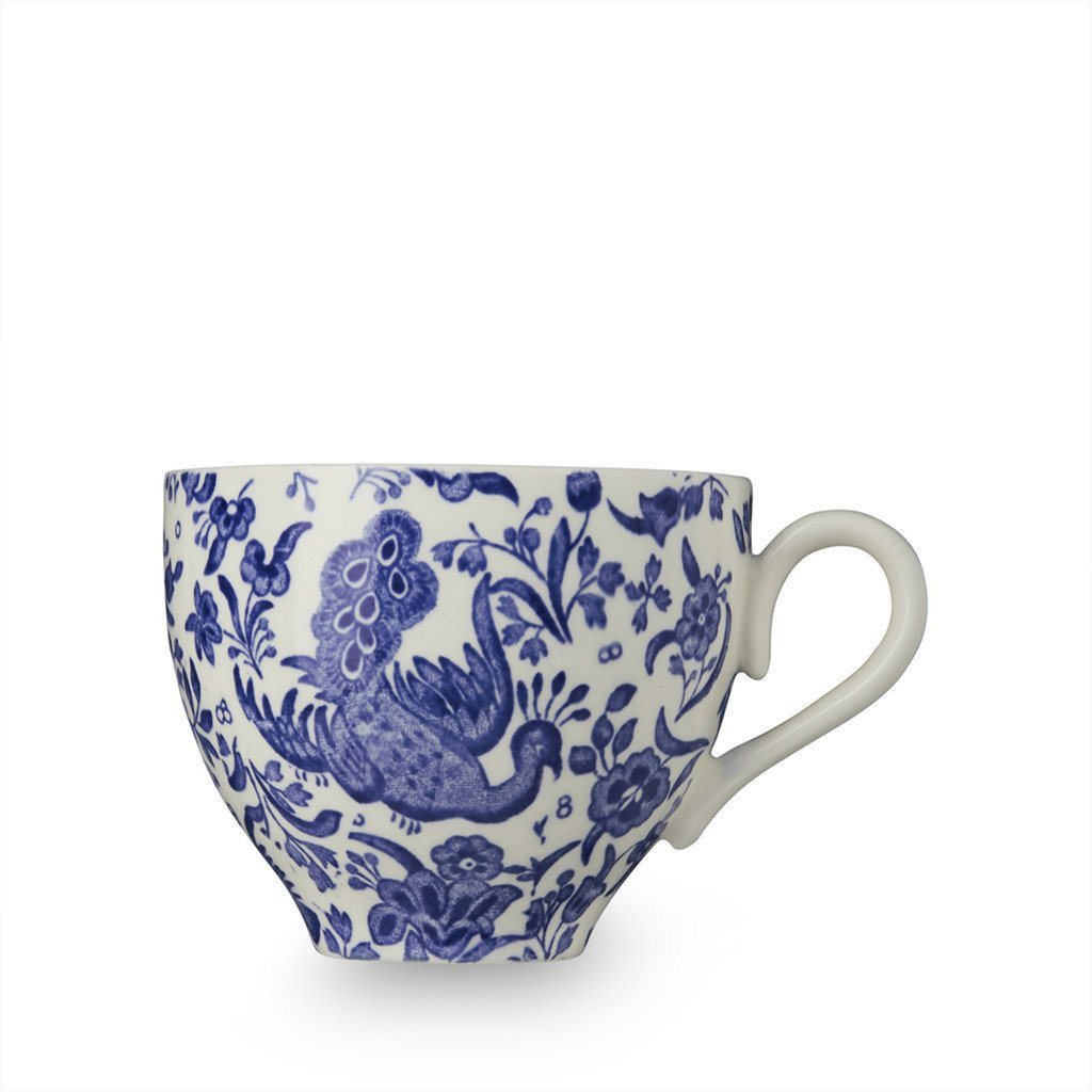 Teacup - Blue Regal Peacock Teacup 187ml/0.33pt Seconds