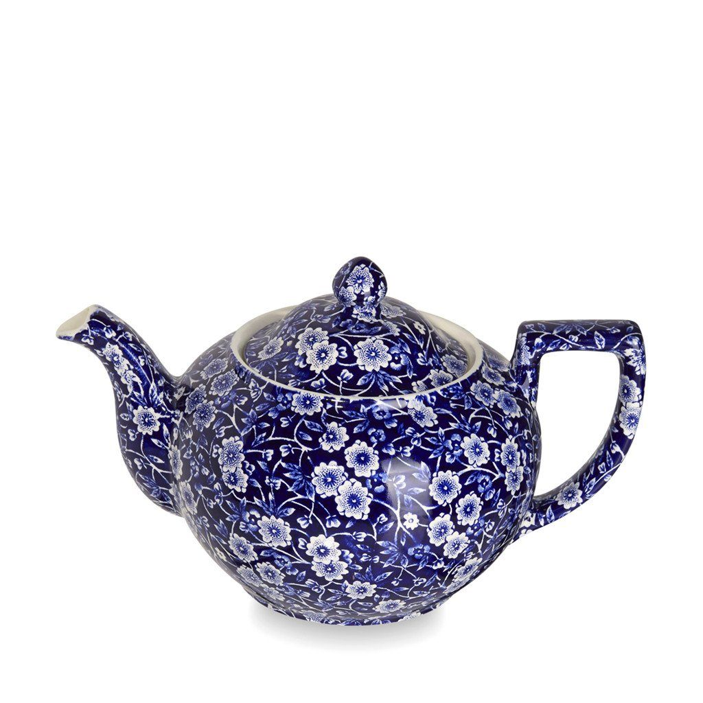 Teapot - Blue Calico Large Teapot 7 Cups 800ml/1.5pt