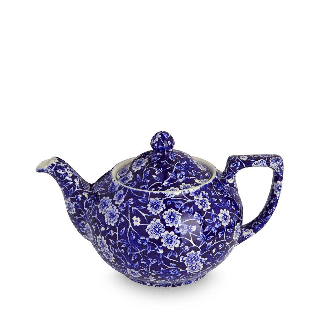 Teapot - Blue Calico Small Teapot 3-4 Cup 400ml/0.75pt