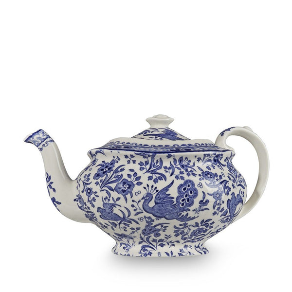 Teapot - Blue Regal Peacock Teapot 5 Cup