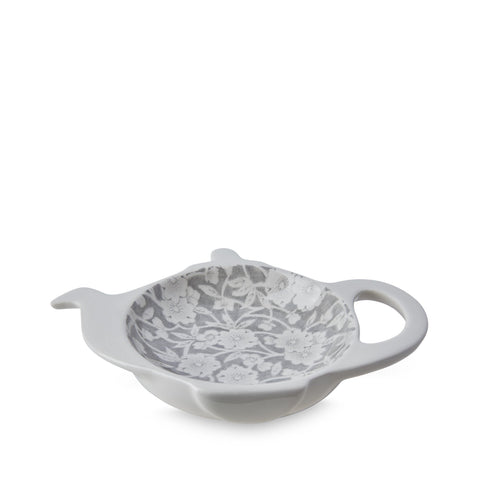 Dove Grey Calico Mini Teapot Tray