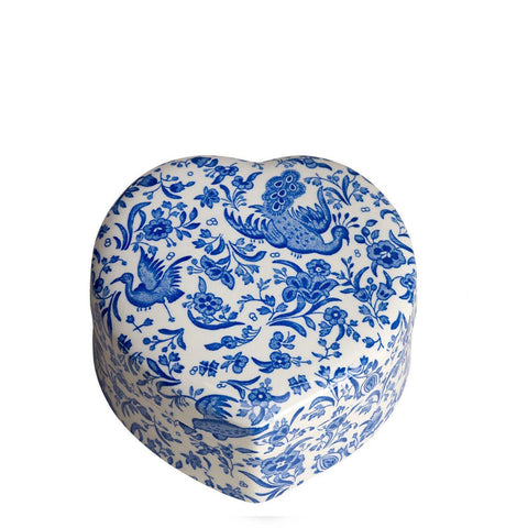 Blue Regal Peacock Trinket Box