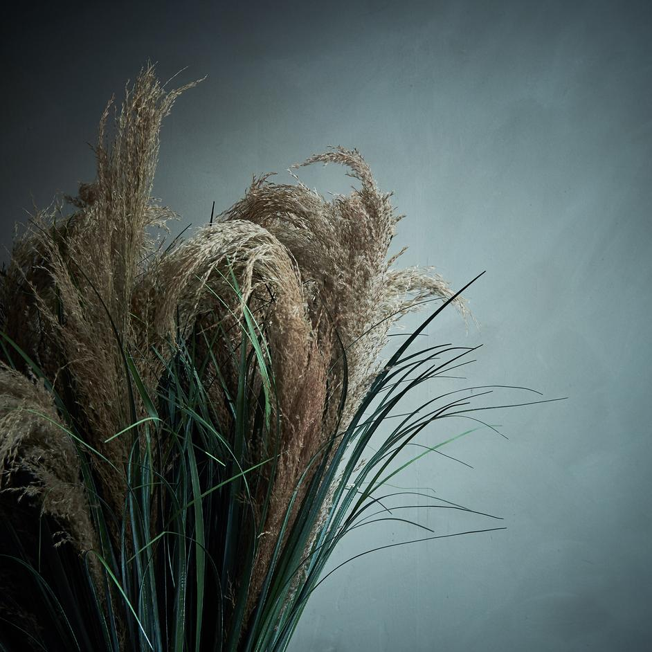 "Faux Botanical ""Pampas Grass"""