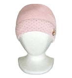White Spring Winter Knitted Hat with Gold Crystals