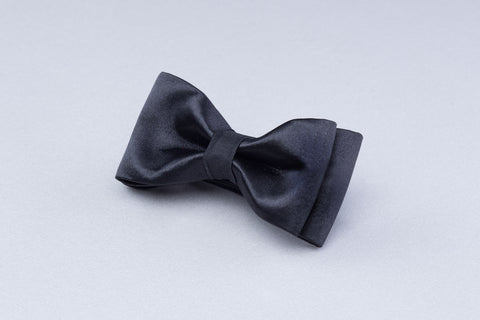 Satin Black Bow tie